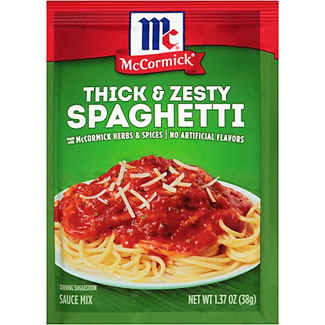 McCormick Sauce Mix Spaghetti Thick & Zesty - 1.37 Oz