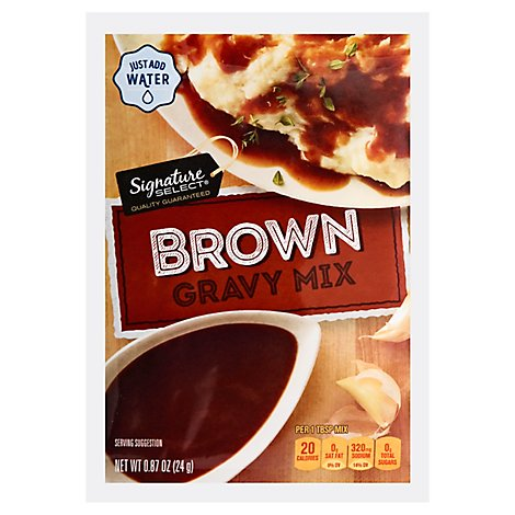 Signature SELECT Gravy Mix Brown - 0.87 Oz
