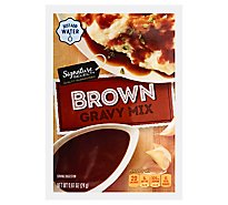 Signature Kitchens Gravy Mix Brown - 0.87 Oz