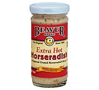 BEAVER Horseradish Roots Grated Extra Hot - 4 Oz.