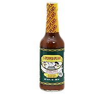 The Pepper Plant Sauce Hot Pepper Chunky Garlic - 10 Oz