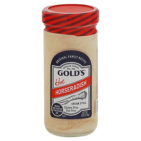 Golds Horseradish Prepared Cream Style Hot - 6 Oz