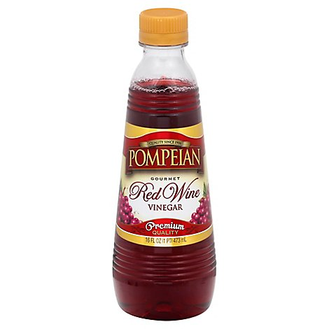 Pompeian Vinegar Gourmet Red Wine - 16 Fl. Oz.
