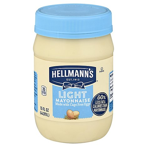 Hellmanns Mayonnaise Light - 15 Oz