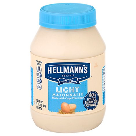 Hellmanns Mayonnaise Light - 30 Oz