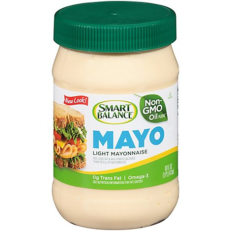 Smart Balance Dressing Light Mayonaise Omega Plus - 16 Fl. Oz.