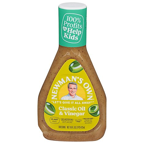 Newmans Own Dressing Olive Oil & Vinegar - 16 Fl. Oz.