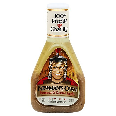 Newmans Own Dressing Parmesan & Roasted Garlic - 16 Fl. Oz.