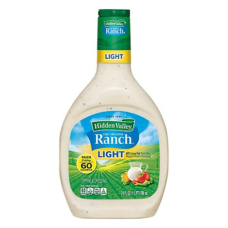 Hidden Valley The Original Ranch Dressing Light Thick & Creamy - 24 Fl. Oz.