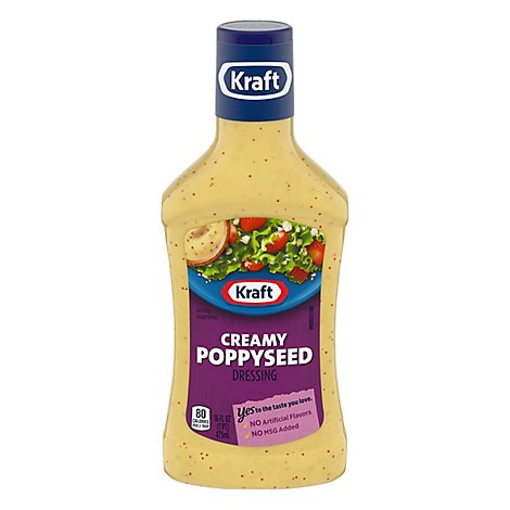 Kraft Dressing Creamy Poppyseed - 16 Fl. Oz.