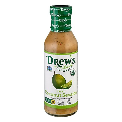 Drews Dressing & Quick Marinade Thai Sesame Lime - 12 Fl. Oz.