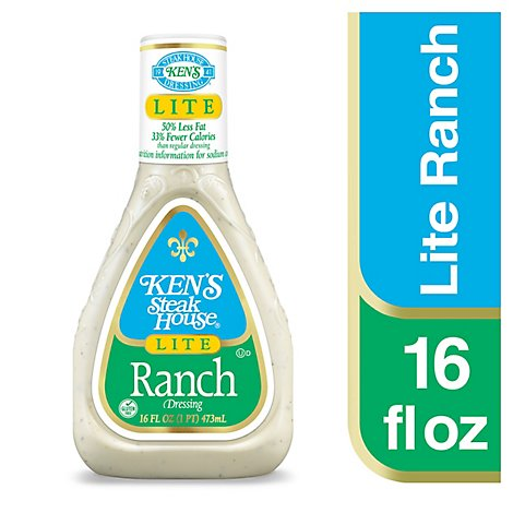 Kens Steak House Dressing Lite Ranch - 16 Fl. Oz.