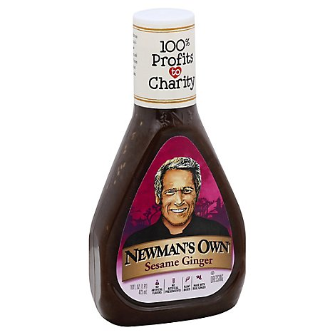 Newmans Own Dressing Low Fat Sesame Ginger - 16 Fl. Oz.