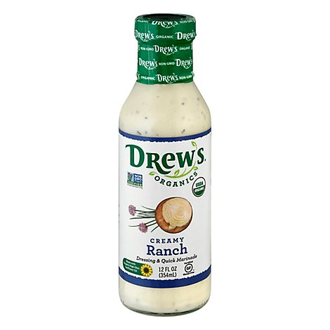 Drews Dressing & Quick Marinade Ranch Creamy - 12 Fl. Oz.