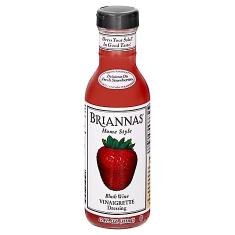 BRIANNAS Dressing Home Style Vinaigrette Blush Wine - 12 Fl. Oz.