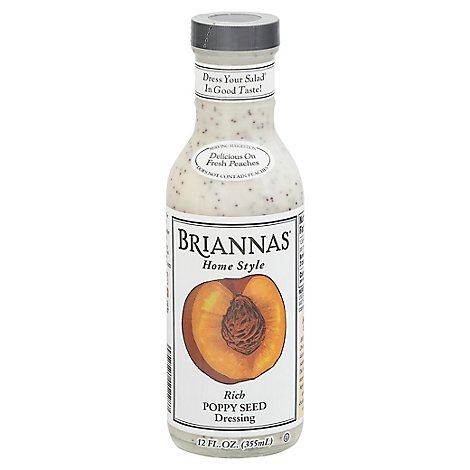 BRIANNAS Dressing Home Style Poppy Seed Rich - 12 Fl. Oz.