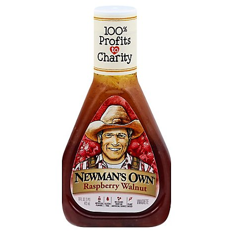 Newmans Own Lite Dressing Raspberry & Walnut Lite - 16 Fl. Oz.
