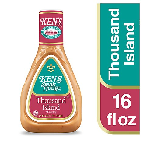 Kens Steak House Dressing Thousand Island - 16 Fl. Oz.