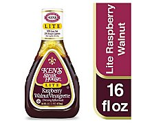 Kens Steak House Dressing Lite Raspberry Walnut Vinaigrette - 16 Fl. Oz.