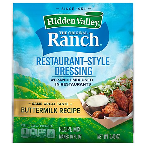 Hidden Valley Salad Dressing & Seasoning Mix Buttermilk Recipe - 0.4 Oz
