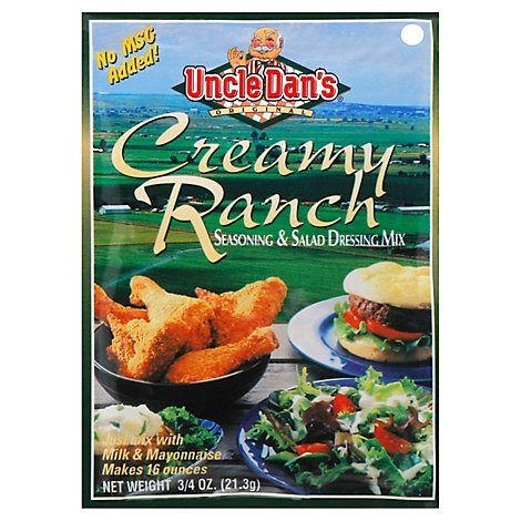 Uncle Dans Seasoning and Salad Dressing Mix Creamy Ranch - 0.75 Oz