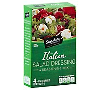 Signature SELECT/Kitchens Salad Dressing & Seasoning Mix Italian Pack - 4-0.7 Oz