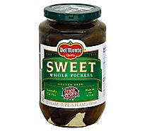 Del Monte Pickles Whole Sweet - 22 Fl. Oz.