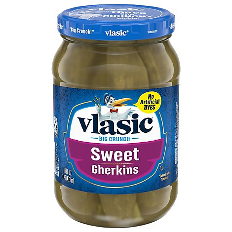 vlasic Pickles Gherkins Sweet - 16 Fl. Oz.