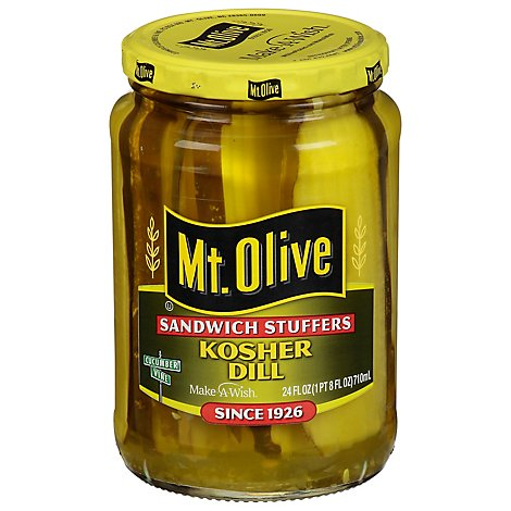 Mt. Olive Pickles Sandwich Stuffers Kosher Dill - 24 Fl. Oz.