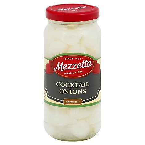 Mezzetta Onions Cocktail Imported - 16 Oz