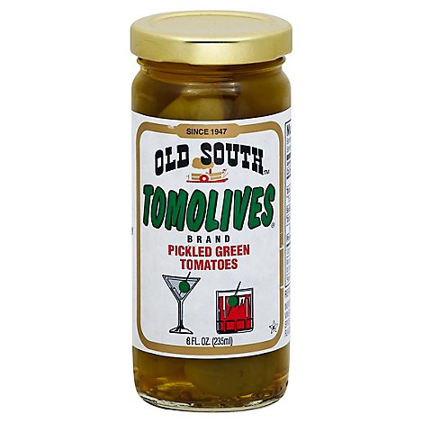 Old South Tomolives Pickled Tomatoes Green - 16 Oz