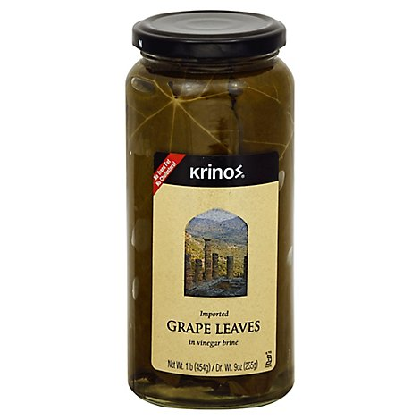 Krinos Grape Leaves In Vinegar Brine 16 Oz Albertsons