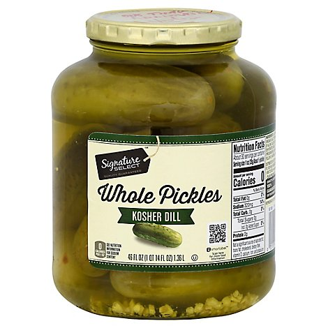 Signature SELECT Pickles Whole Genuine Dill Jar - 46 Fl. Oz.