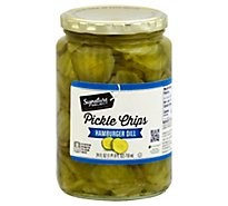 Signature SELECT Pickle Chips Hamburger Dill - 24 Fl. Oz.