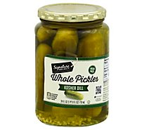 Signature SELECT Pickles Whole Kosher Dill Jar - 24 Fl. Oz.