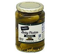 Signature SELECT Pickles Baby Kosher Dill Jar - 24 Fl. Oz.