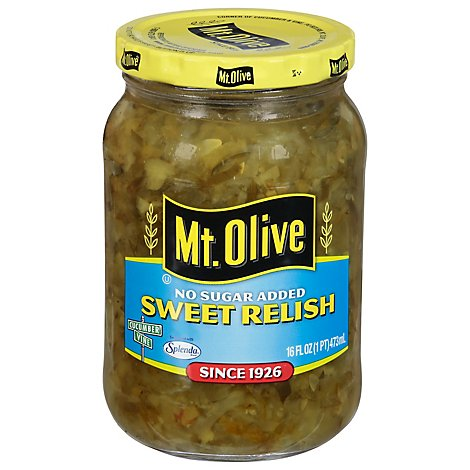 Mt. Olive No Sugar Added Relish Sweet - 16 Fl. Oz.