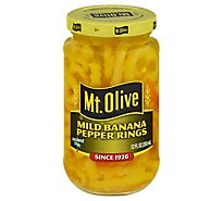 Mt. Olive Pepper Rings Banana Mild - 12 Fl. Oz.