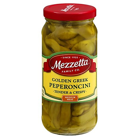 Mezzetta Peperoncini Greek Golden - 16 Oz