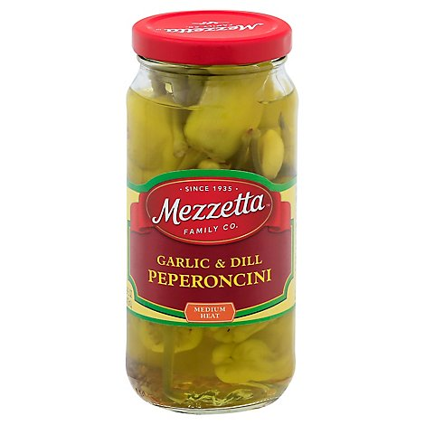 Mezzetta Peperoncini Garlic & Dill Golden - 16 Oz