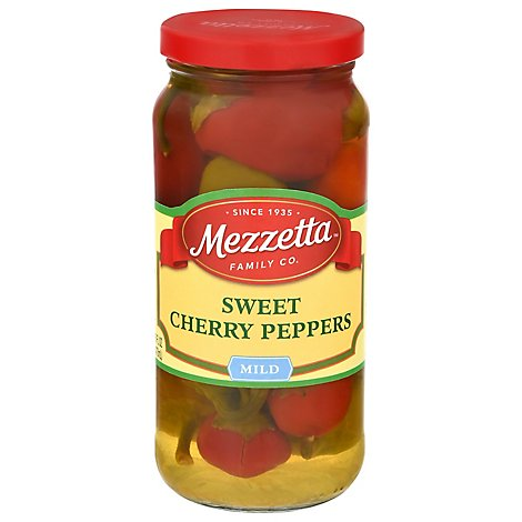 Mezzetta Peppers Cherry Sweet - 16 Oz