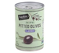 Signature SELECT Olives Pitted Ripe Large Can - 6 Oz