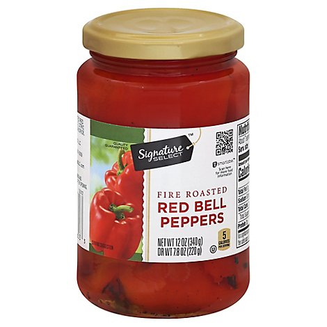 Signature SELECT Peppers Red Fire Roasted - 12 Oz