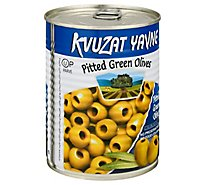 Kvuzat Yavne Pitted Green Olives - 19 Oz