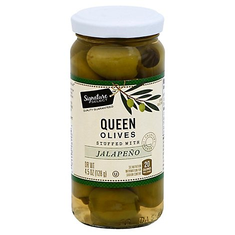 Signature SELECT Olives Stuffed Jalapeno - 4.5 Oz