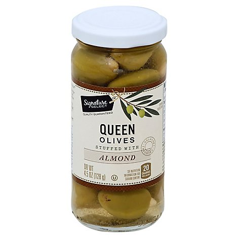 Signature SELECT Olives Stuffed Almond - 4.5 Oz