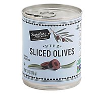 Signature SELECT Olives Sliced Ripe Can - 3.8 Oz