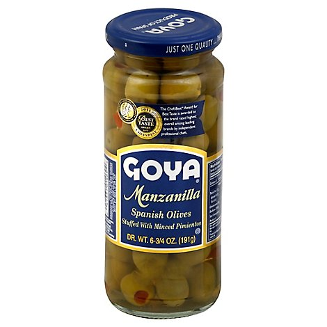 Goya Olives Spanish Manzanilla - 6.75 Oz
