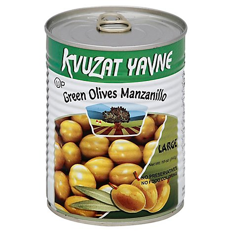 Kvuzat Yavne Olives Green Manzanillo Can - 19 Oz