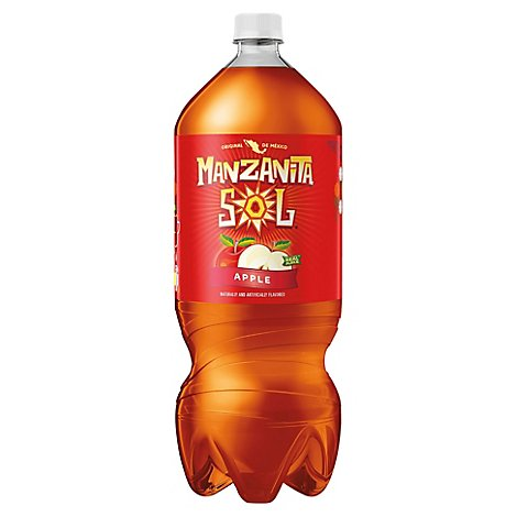 Manzanita Sol Soda Apple - 2 Liter